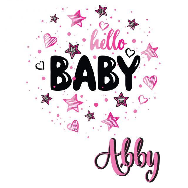 Geboortesticker   Hello