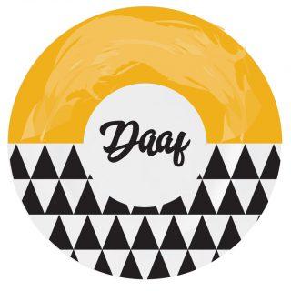 Bordje plastic | Daaf